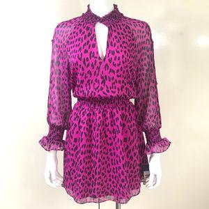 NEW RACHEL Rachel Roy Lucky Leopard Ruffled Dress